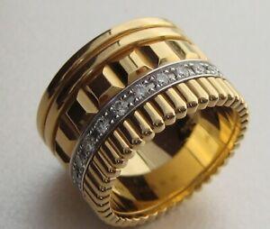 72d780cc83501 Details about GENUINE BOUCHERON QUATRE RADIANT EDITION 18ct YELLOW GOLD AND  DIAMOND RING