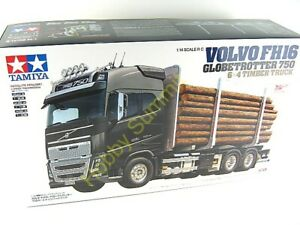 NEW-56360-Tamiya-1-14-R-C-VOLVO-FH16-6X4-TIMBER-TRUCK-Globetrotter-750-Tractor