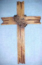 Crosses Wall Hanging Cross Thorns Religious Jesus Christian Barnwood Look