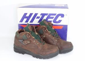 Vintage-90s-New-Hi-Tec-Mens-10-Aspen-Leather-Outdoor-Trail-Ankle-Hiking-Boots