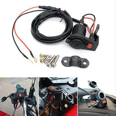 Waterproof 12V/24V Outlet Power Socket Car Motorcycle Cigarette Lighter Plug