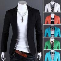 New Stylish Men's Casual Slim Fit One Button Suit Blazer Coat Jacket Top Outwear