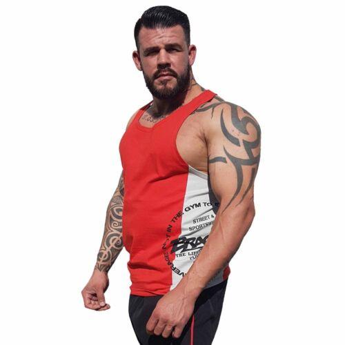 Brachial Tank-Top Squat Rot//Grau Fitness Bodybuilding