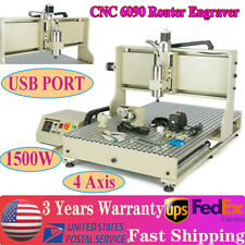 Usb 4 Axis Cnc 6090 Router Engraver 3d Wood Metal Cutting Mill Machine 15kw