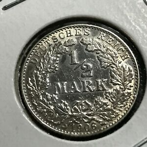 1906-D-GERMANY-SILVER-1-2-MARK-NICE-COIN