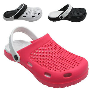sandalen clogs damen garten krankenschwester k che arbeit strand slipper ebay. Black Bedroom Furniture Sets. Home Design Ideas