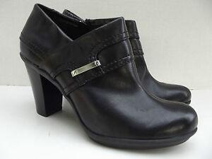 LIZ CLAIBORNE Flex Black Booties Heels Womens SHOES Sz 7 1 2 M SUPER ... c9d3b2688f