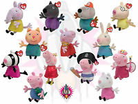 """NEW TY BEANIE BABIES PEPPA PIG AND FRIENDS PLUSH 6"""" SOFT TOY BRAND NEW WITH TAGS"""