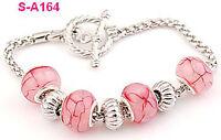 handmade Dragon vein European charm beaded bracelet spacial lobster clasp S_A164