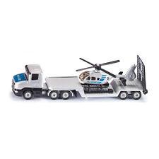 Siku 1610 Tieflader mit Hubschrauber silber/blau Modellauto  NEU!  °