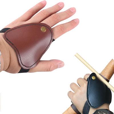 Microfiber Archery Recurve Bow Finger Protector Gloves Shooting 3 Finger Guard