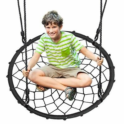 Serenelife Outdoor Hanging Tree Round Net Spinner Saucer Swing