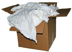 50 LB. BOX OF RECLAIMED WHITE COTTON T-SHIRT   PAINTERS   ROOFERS ... df41c960cc2