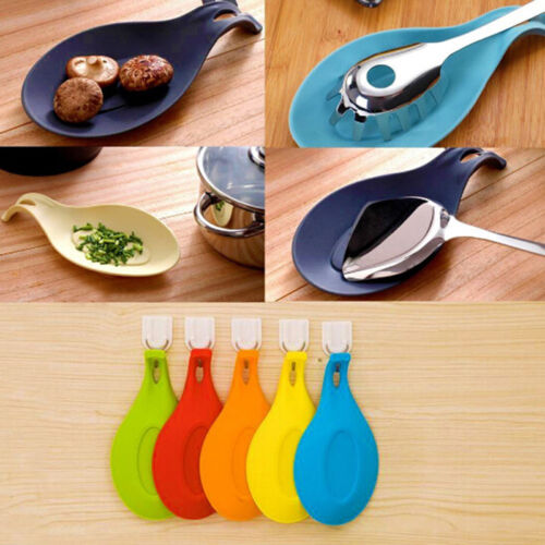 Multipurpose Silicone Spoon Rest Pad Food Grade Silica Gel Spoon Put Mat Device