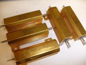 5-lot-CLAROSTAT-MFG-CO-9235AD-ELECTRONIC-RESISTOR-100-OHM-30W-NOS