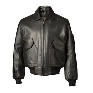Details about Jacket, CWU 45P, John Ownbey, Leather, Black