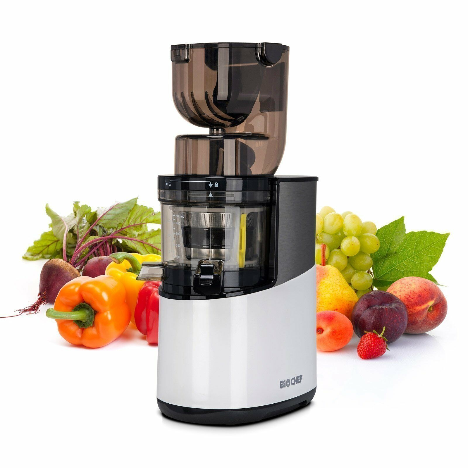 BioChef Atlas Pro Slow   Masticating WHOLE Juicer   Max Rated Power 400w - blanc
