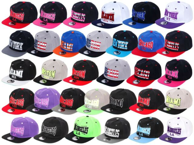 Snapback Base-Cap Starter Hat Hip Hop Käppi Schirm-Mütze Baseball-Cap Kappe City