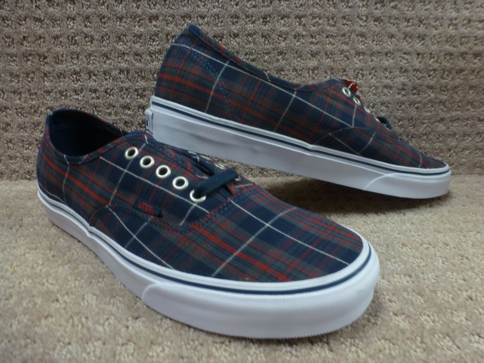Vans Men's shoes's Authentic -- (Plaid) Dress blueess, Size 11