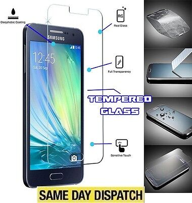 100% Genuine Tempered Glass cover Film Screen Protector for Samsung Galaxy A5