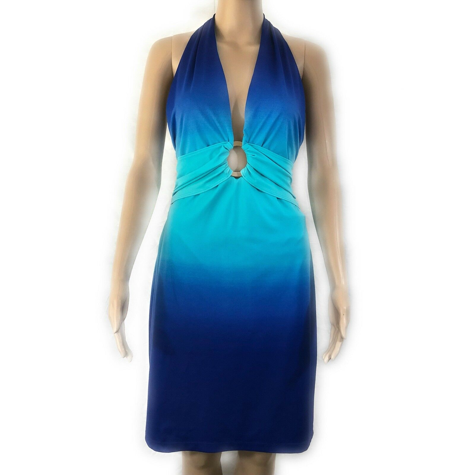 Cache damen Dress Größe 12 Blau Ombre Sleeveless Halter Sundress Wedding Special