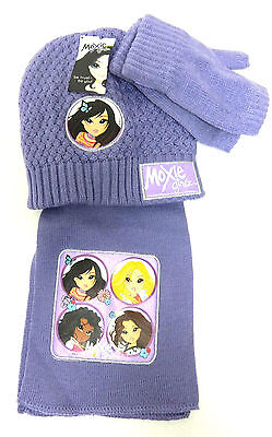 Marled Sparkle Pom-Pom Hat /& Flip-Top Fingerless Gloves Set 7-16 SO Girls M//L