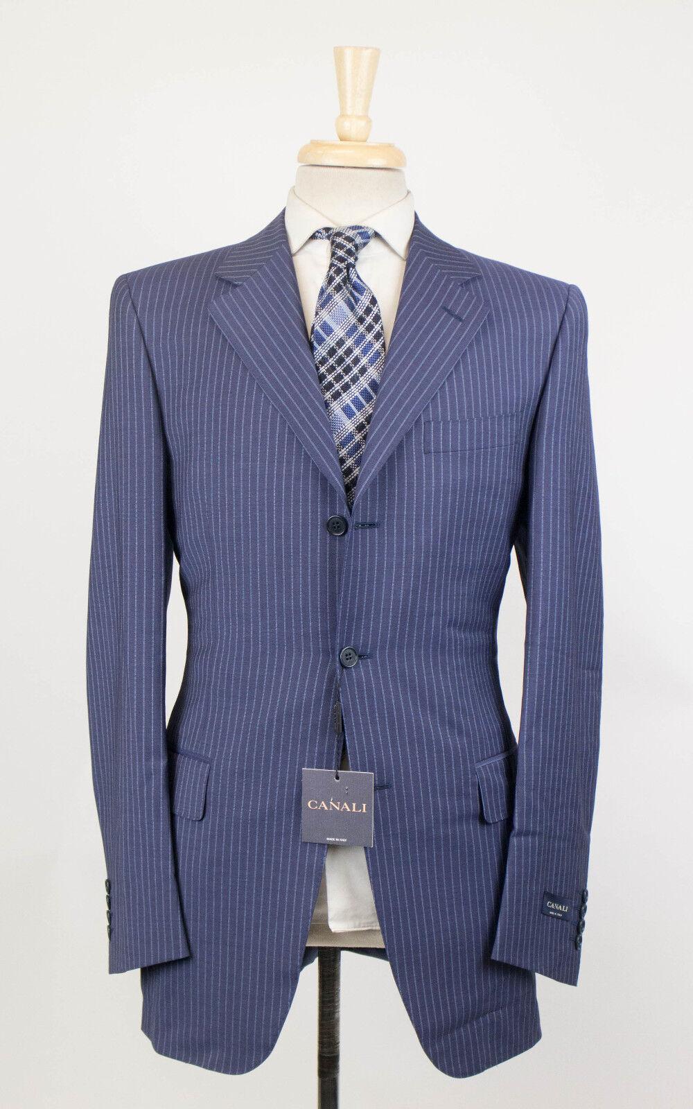 Neu Canali Blaue Streifen Wollmischung 3 Knopf Anzug Größe 48 38 L Tropfen 6    Abrechnungspreis    Räumungsverkauf    Neuheit