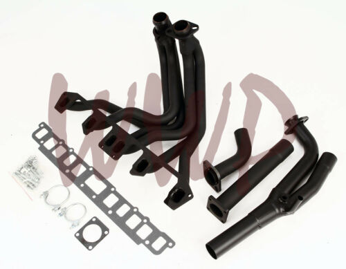 Performance Black Coated Exhaust Header Manifold 87-90 Jeep Wrangler 4.2L 6-Cyl