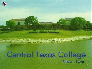 Postcard TX Killeen Central Texas College Bell County Unused