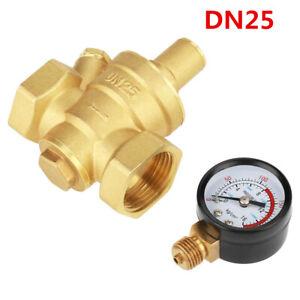 Druckminderer-DN25-32mm-Wasser-Messing-Druckregler-Reduzierventil-Manometer