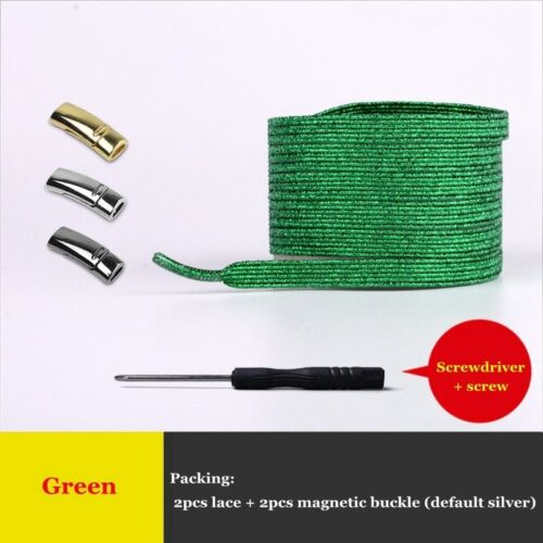 Details about  /Buy 2 Get 1 Free....Magnetic Elastic No Tie Shoelaces For Kid /& Adult Colorful