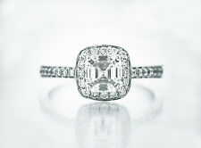 Gorgeous Asscher Cut $10,200 EGL/UGS VS1 H 1.17ct  Diamond Engagement Ring 14KWG