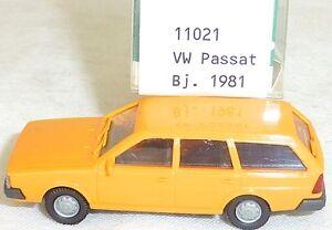 Vw-passat-BJ-1981-LEUCHTORANGE-Mesureur-EUROMODELL-11021-h0-1-87-OVP-ll1-a
