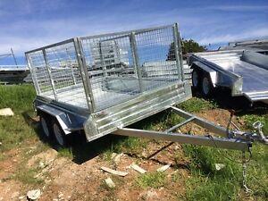 Tandem-Trailer-9x6ft-1000-mm-mesh-cage-Galvanized-Brand-New
