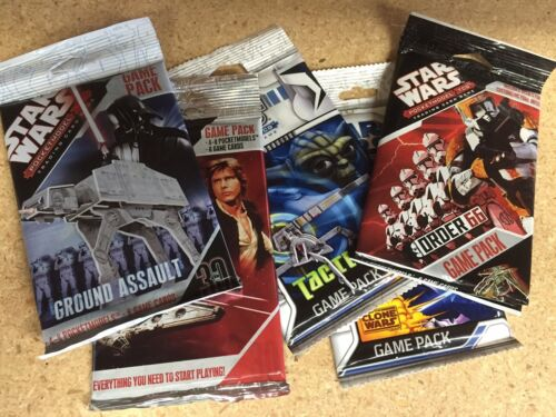 WizKids STAR WARS PocketModel GAME : 5 SEALED NEW BOOSTER PACKS