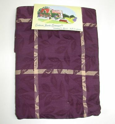 Modestil Baumwolle Park Tischdecke ~ Aubergine Flüstern Willows ~ 60 X 104 Rechteckig Neu Verschiedene Stile Bettwäsche Bettwaren, -wäsche & Matratzen