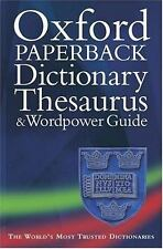 Oxford Paperback Dictionary, Thesaurus, and Wordpower Guide-ExLibrary