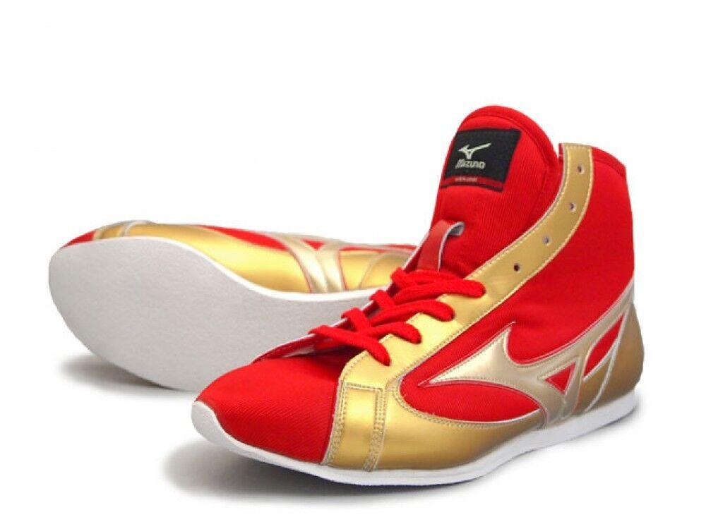 Mizuno zapatos de boxeo japoneses 21 gx152000 corto, rojo x oro