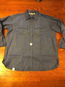NWT-Vintage-LL-Bean-Men-039-s-Chamois-Cloth-Shirt-Blue-Button-up-size-20-Tall