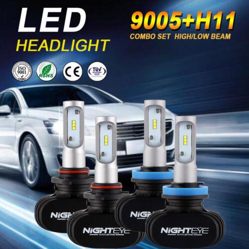 NIGHTEYE H11+9005 LED Headlight 6000K Hi/&Low Beam For Chevy Silverado 1500 07-15