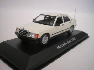 Mercedes-Benz-190E-190-E-1984-White-1-43-maxichamps-940034100-New