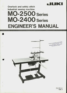 juki mo 2500 2400 series industrial sewing machine orig engineers rh ebay com Industrial Sewing Machine Manual Juki Instruction Manual
