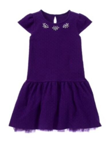 Gymboree NWT Plum Party Purple Textured Gems Summer Spring Dress 6 7 8 10