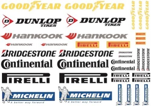 Tyre Brands Decal Sheet for 1//10 PD1004