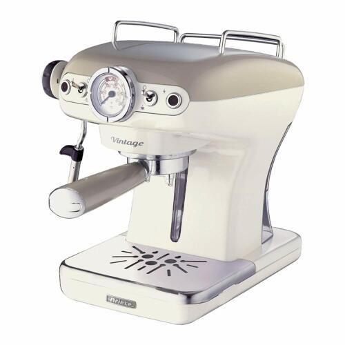 Vintage Beige Ariete Dome Kettle 2 Slice Toaster and Espresso Machine Set