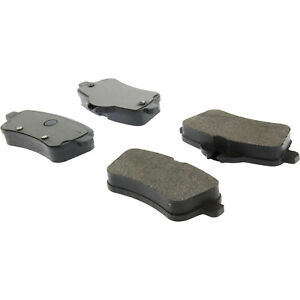 Disc Brake Pad Set-Premium Semi-Met Pads with Shim and Hardware Rear Centric