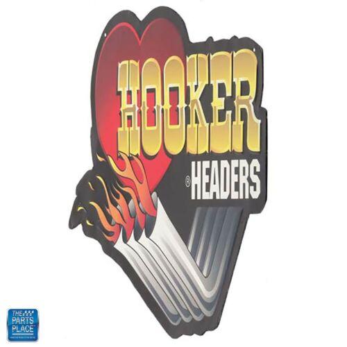"""Hooker Headers Die Cut Embossed Tin Man Cave 18/"""" x 13.16/"""""""