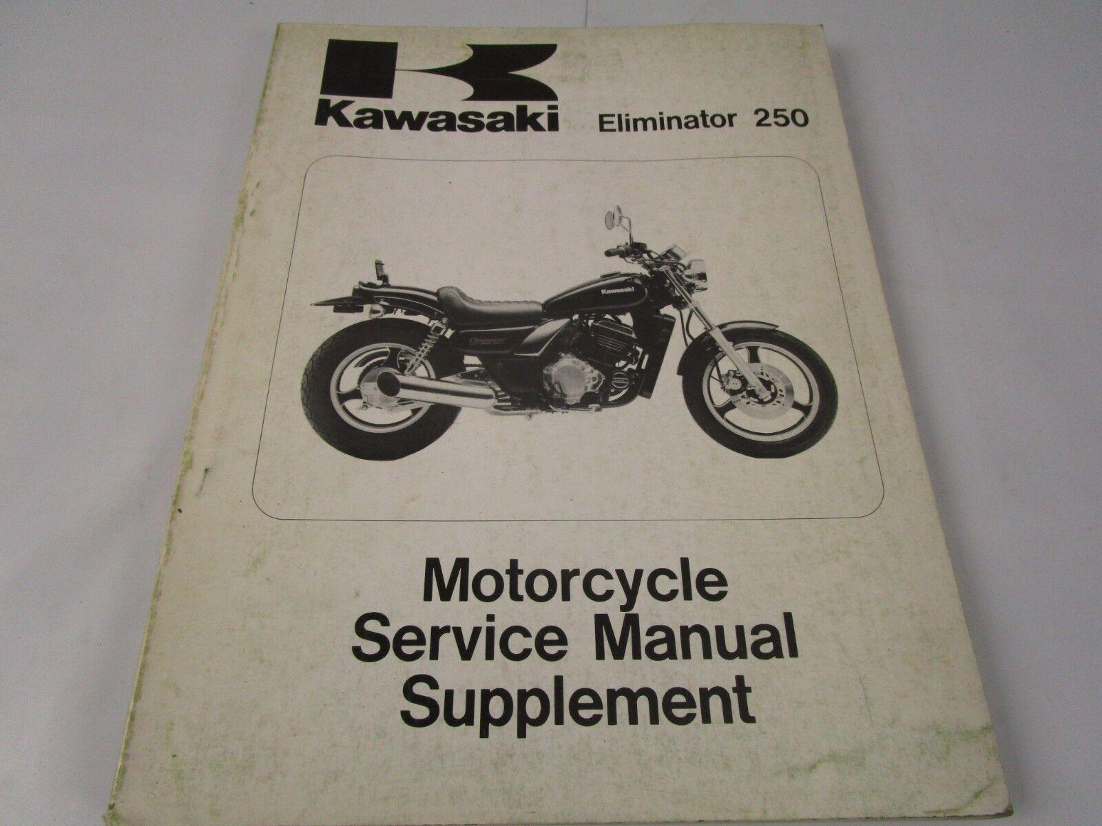 Service Repair Manual Supplement OEM Kawasaki 88 El250b 250 Eliminator  El250 ZL | eBay