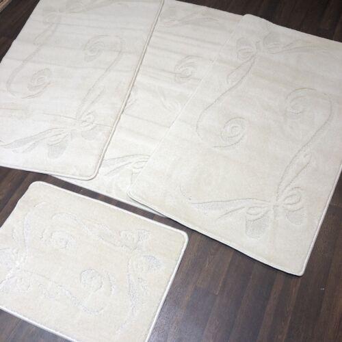 Romany Gypsy Lavable Tapis de jeux de 4 Taille Standard crème antidérapante marron dos