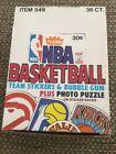 1981-82 Fleer NBA Basketball Team Stickers Unopened Wax Box 36 packs